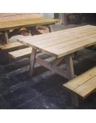 Mesa de madera para jardín y áreas de picnic